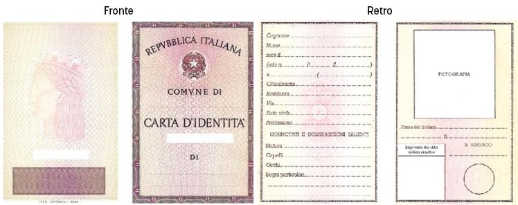 esempio di documento di identità