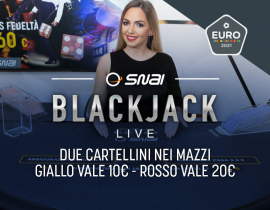 Snai Blackjack Live– Euro 2021