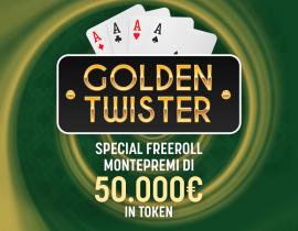 Golden Twister - 50.000€ ogni settimana in palio