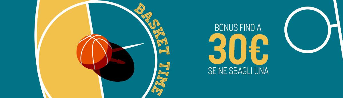 Bonus Basket in multipla da sabato 24 a lunedì 26 ottobre