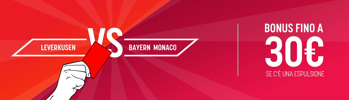 Leverkusen Bayern bonus con l'espulsione