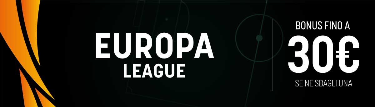 Europa League, bonus in multipla con un errore