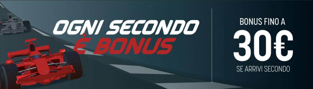 Bonus sul Gp di Formula 1 se arriva secondo - 5 luglio