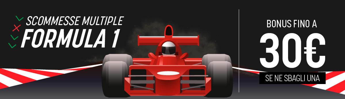 Formula 1, domenica 29 novembre, bonus in multipla