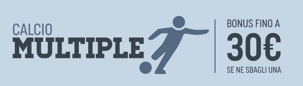 Bonus un multipla su tutto il calcio dall'1 al 7 giugno