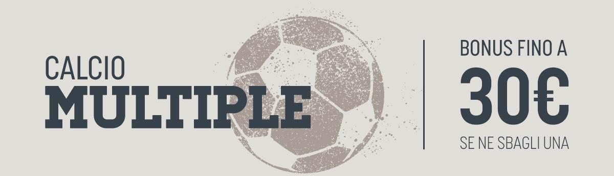 Bonus su tutto il calcio in multipla dal 25 al 31 maggio
