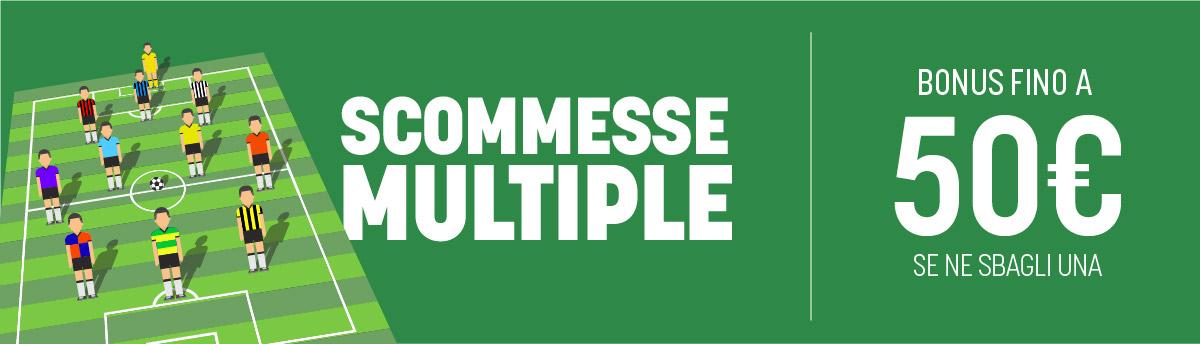 Multiple col bonus su Serie B, Premier e Liga dal 10 al 13 luglio