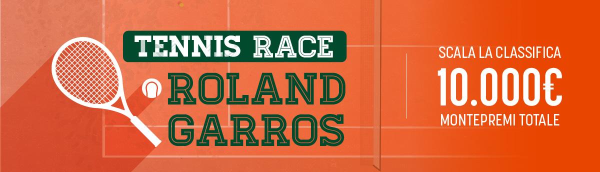 Race sul Roland Garros - 10.000€ di montepremi