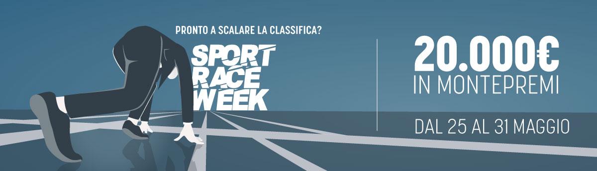 Sport Week Race 11, dal 25 al 31 maggio, 20.000€ di montepremi