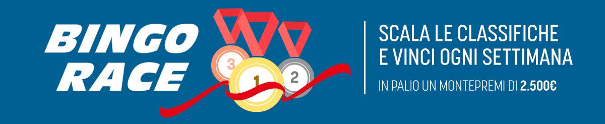 Bingo Race - 2.500€ in Bonus